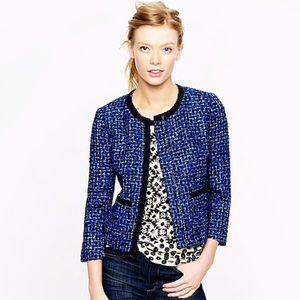 J. Crew Lady Blue Tweed Blazer Jacket  Sz 4